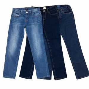 3 pair Girls Skinny Slim Denim Jeans Gap Old Navy Children's Place 10